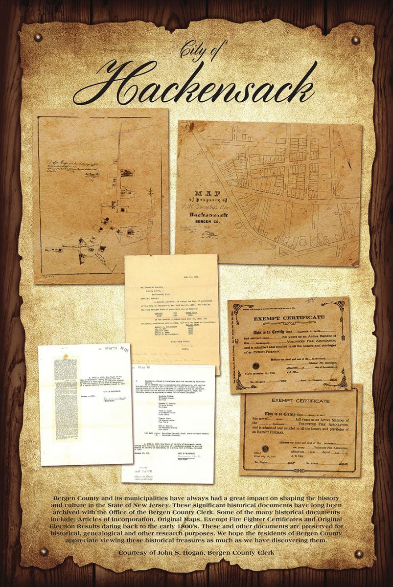 Bergen county clerk hackensack historic poster reheart Images