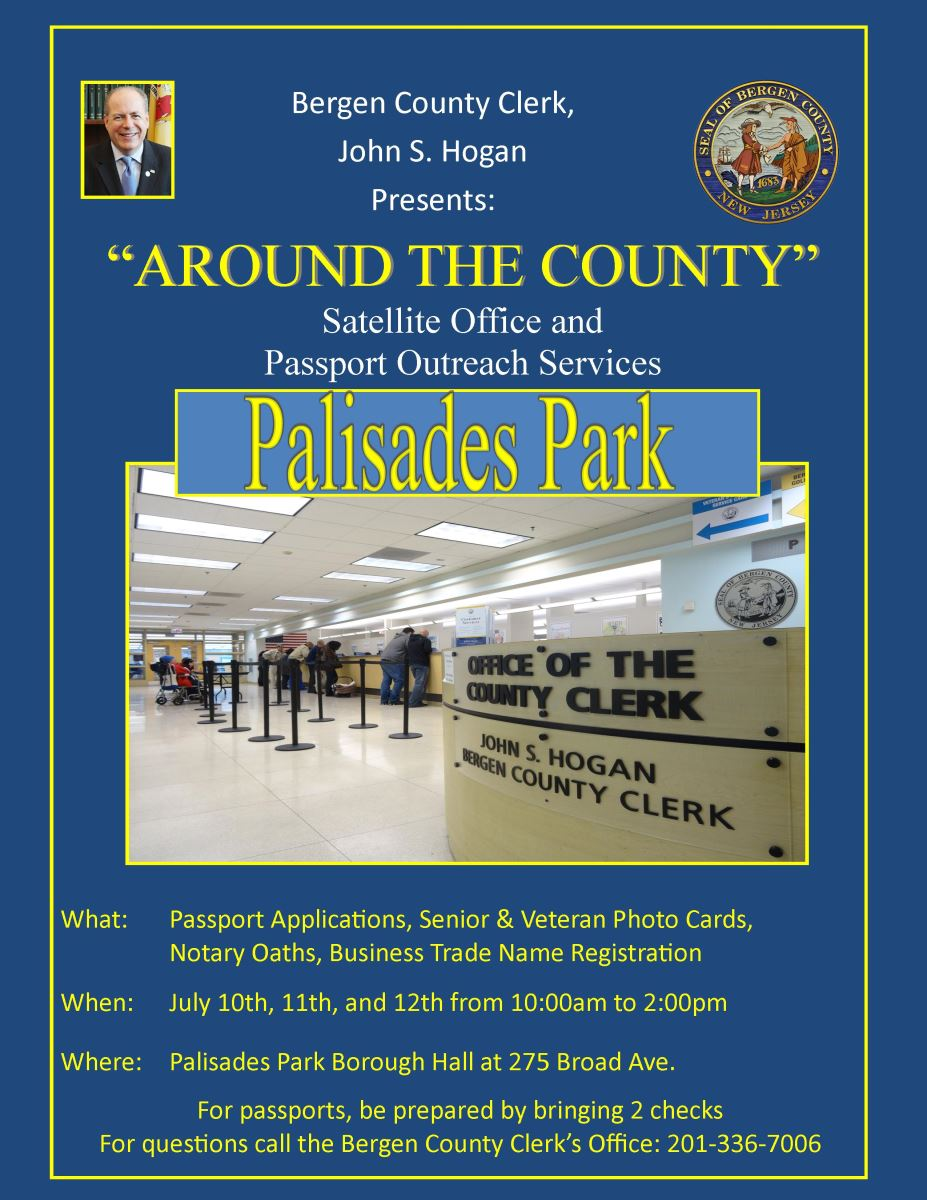 Bergen county clerk home the bergen county clerks satellite office is coming to palisades park reheart Images